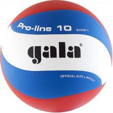 "Мяч вол. ""GALA Pro-Line 10"" арт. BV5581S, р. 5, синт.кожа ПУ Microfiber, клееный,бут.кам, бело-гол-крас"
