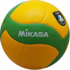 "Мяч вол. ""MIKASA V200W-CEV"",р.5,оф.мяч ЕКВ,ЛЧ ЕКВ,синт.к.микрофиб,18пан, клеен,зел-желт"
