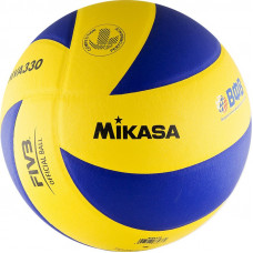 """Мяч вол. """"MIKASA MVA330"""", р.5, синт. кожа (ПУ), оф. парам. FIVB, клееный, бут.кам, син-желт"""