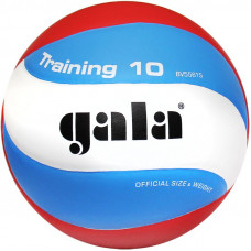 "Мяч вол. ""GALA Training 10"" арт. BV5561S, р. 5, синт. кожа ПУ, клееный, бут. кам, бел-гол-красн"