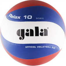 "Мяч вол. ""GALA Relax 10"" арт. BV5461S, р. 5, синт. кожа ПУ, клееный, бут. камера, бело-красно-синий"