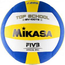 """Мяч вол. """"MIKASA ISV100TS"""", р.5, синт.пена ТПЕ, клееный, бут.кам, бел-жел-син"""