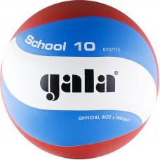 """Мяч вол. """"GALA School 10"""" арт. BV5711S, р. 5, синт.кожа ПУ, подкл.сл. пена, клеен,бут.кам,бел-гол-кр"""