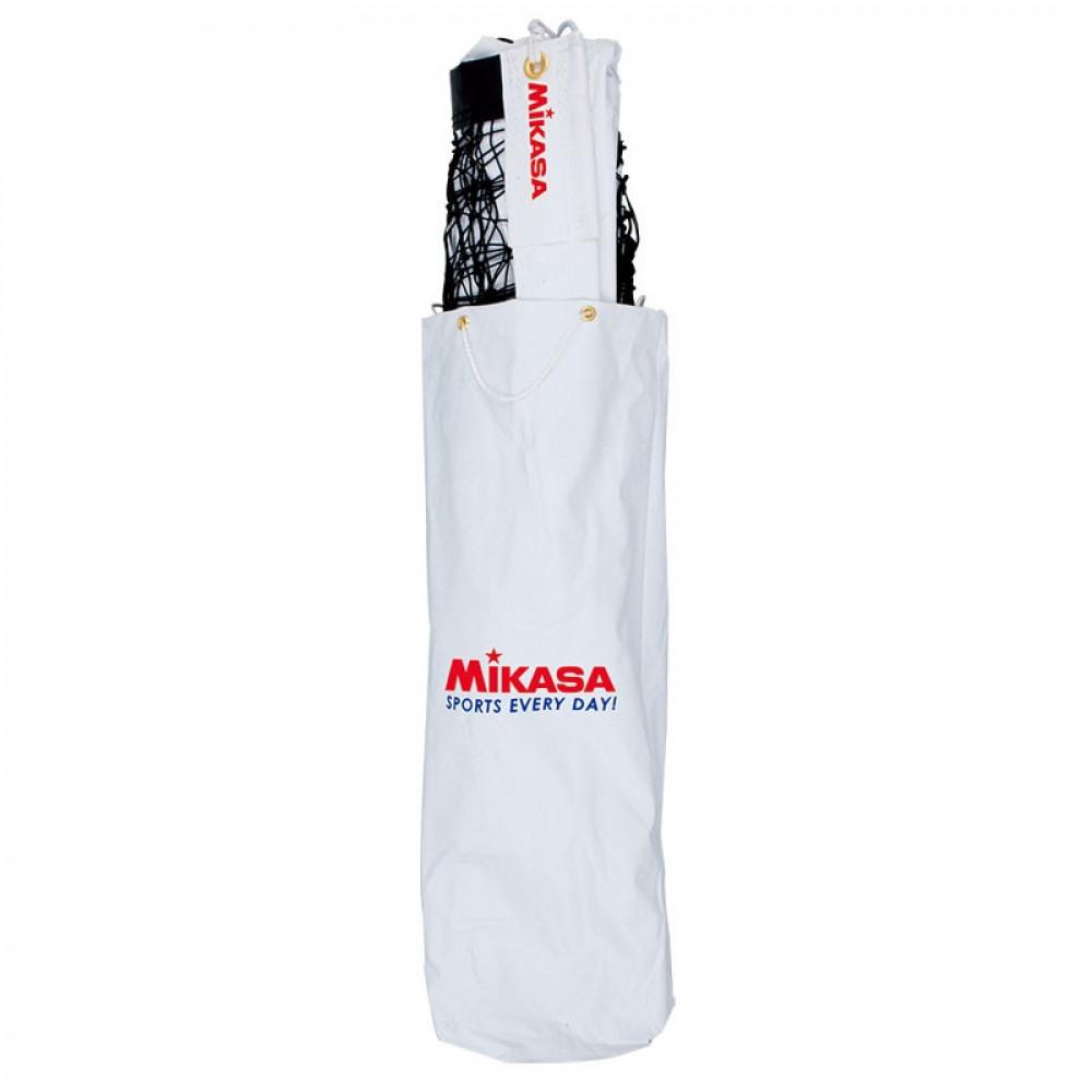 """Сетка вол. """"MIKASA VNC"""", 9.5х1м, нить 2 мм ПП, ленты ПВХ, мет.трос в ПВХ  оболочке, чер."""