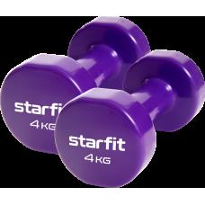 Гантель виниловая Core DB-101 4 кг, фиолетовый, 2 шт
