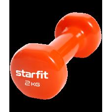Гантель виниловая Core DB-101, 2 кг, оранжевый