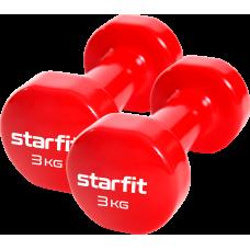 Гантель виниловая Core DB-101 3 кг, красный, 2 шт