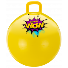 Мяч-попрыгун GB-0402, WOW, 55 см, 650 гр, с ручкой, жёлтый, антивзрыв