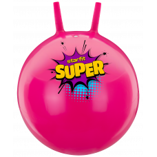 Мяч-попрыгун GB-0401, SUPER, 45 см, 500 гр, с рожками, розовый, антивзрыв
