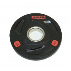 Диск олимпийский 2,5 кг ZIVA серии ZVO резиновое покрытие