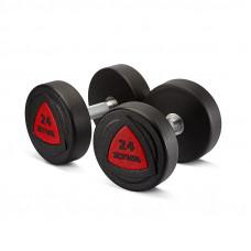 Гантель 34 кг ZIVA серии ZVO резиновое покрытие красная вставка
