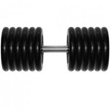 Гантель 81 кг черная неразборная