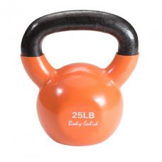 Гиря 11,3 кг (25lb) обрезиненная оранжевая