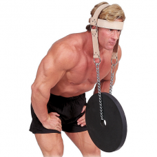 Упряжь для тренировки мышц шеи кожаная