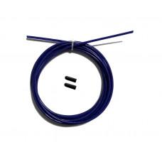 Трос с заглушками скоростной скакалки фиолетовый