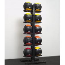 Напольная двухсторонняя стойка для медболов на 10 шт