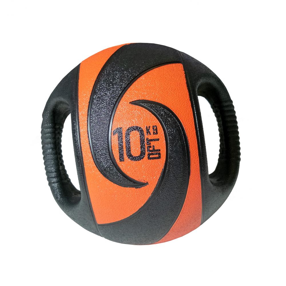 Мяч тренировочный с хватами 10 кг.
