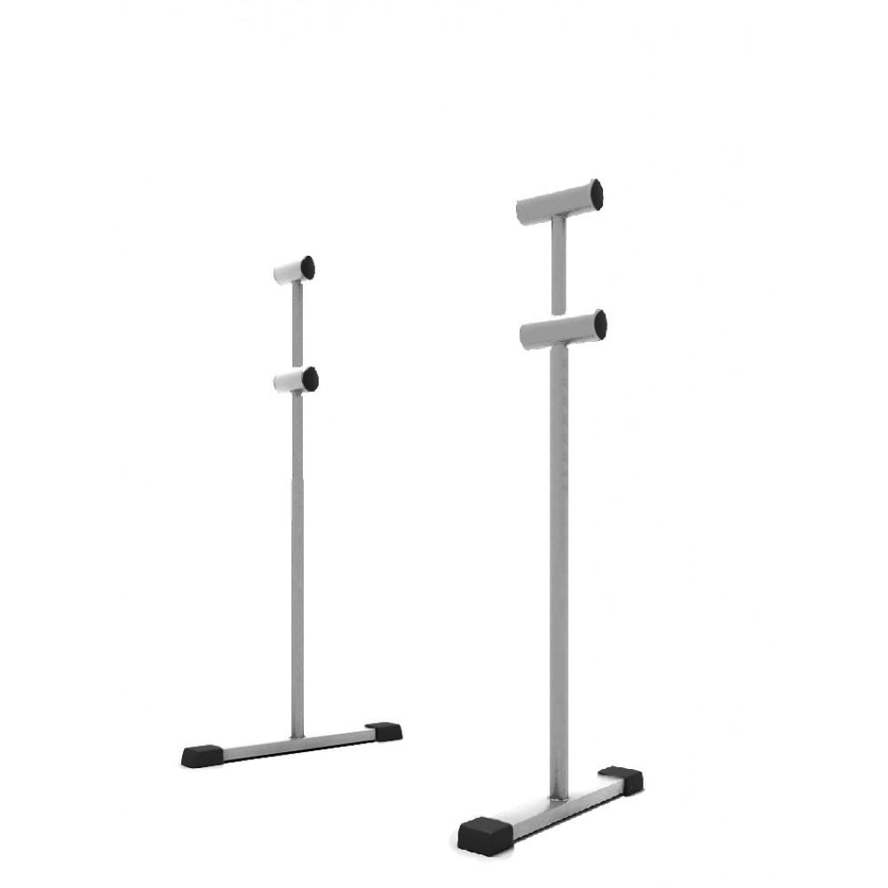 Хореографический станок мобильный 2х-рядный White (комплект кронштейнов)
