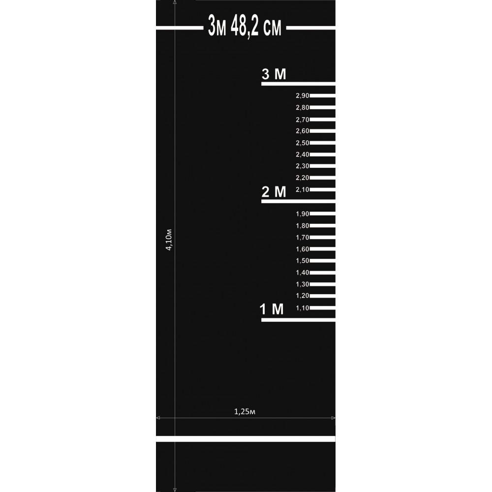 Дорожка для прыжков в длину с места для сдачи нормативов (черная)