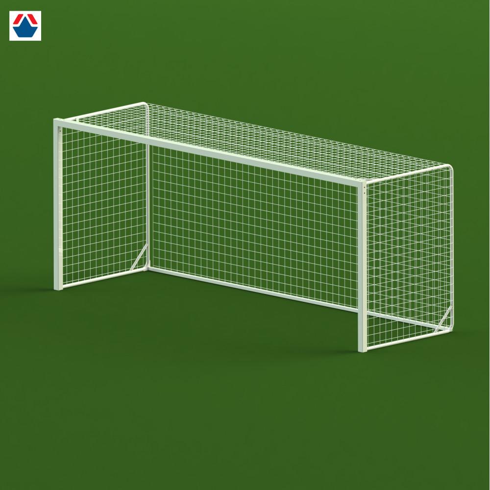 Ворота футбольные 5х2х1,3 м, стальной профиль квадратный 80х80 мм, свободностоящие (цена за 1 единицу)