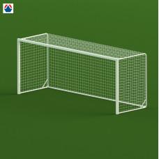 Ворота футбольные 5х2х1,3 м, стальной профиль квадратный 80х80 мм, свободностоящие