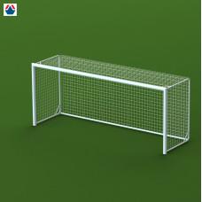 Ворота футбольные 5х2х1,5 м, алюминиевые профиль овальный 100х120мм, свободностоящие