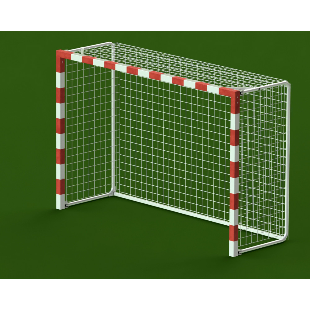 Ворота гандбол - минифутбол 3x2x1 м, алюминиевый профиль квадратный 80x80, свободностоящие