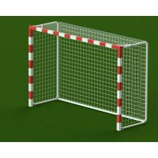 Ворота гандбол - мини-футбол 3x2x1 м., алюминиевый профиль квадратный 80x80 мм., свободностоящие