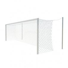 Ворота футбольные 7,32х2,44 м., алюминиевый профиль 100х120, стационарные под свободно подвешиваемую сетку