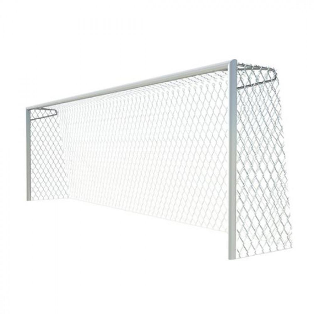 Ворота футбольные 7,32х2,44 м., алюминиевый профиль овальный 100х120 со стаканами, опорами под сетку