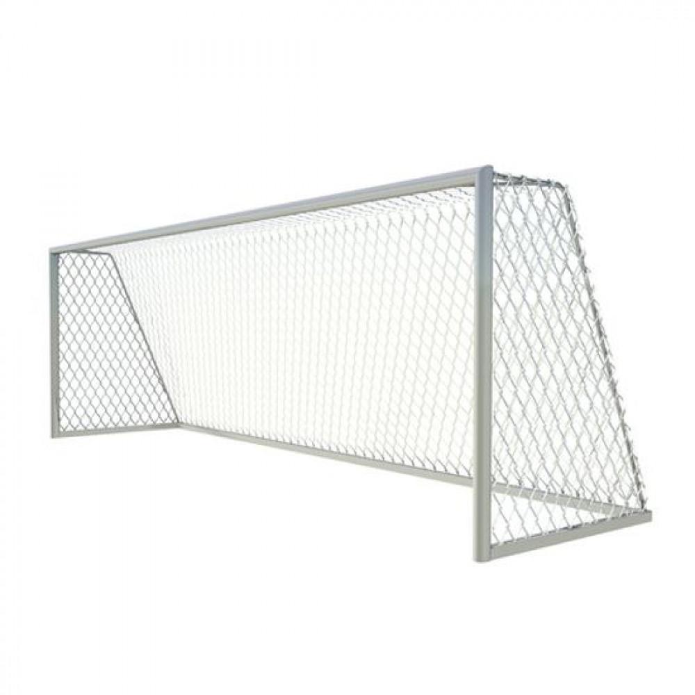 Ворота футбольные 7,32х2,44 м., алюминиевый профиль овальный 100х120 мм., свободностоящие