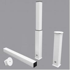 Комплект стаканов для ворот из алюминиевого профиля 80х80