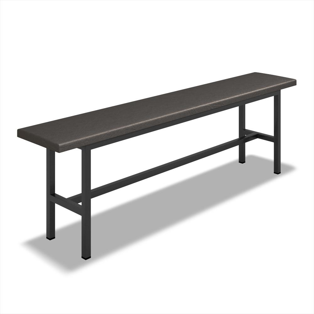 Скамейка для раздевалки полумягкая (L=1200мм)