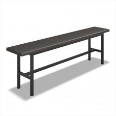 Скамейка для раздевалки полумягкая (L=1500мм)