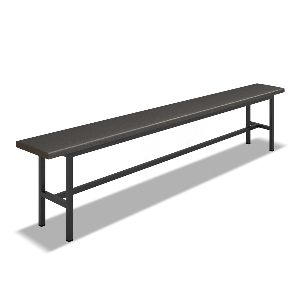 Скамейка для раздевалки полумягкая (L=2000мм)