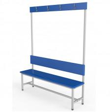 Скамейка с вешалкой для раздевалки ЛДСП-1000