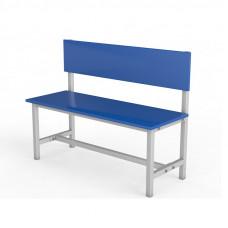 Скамейка для раздевалки со спинкой ЛДСП-1000