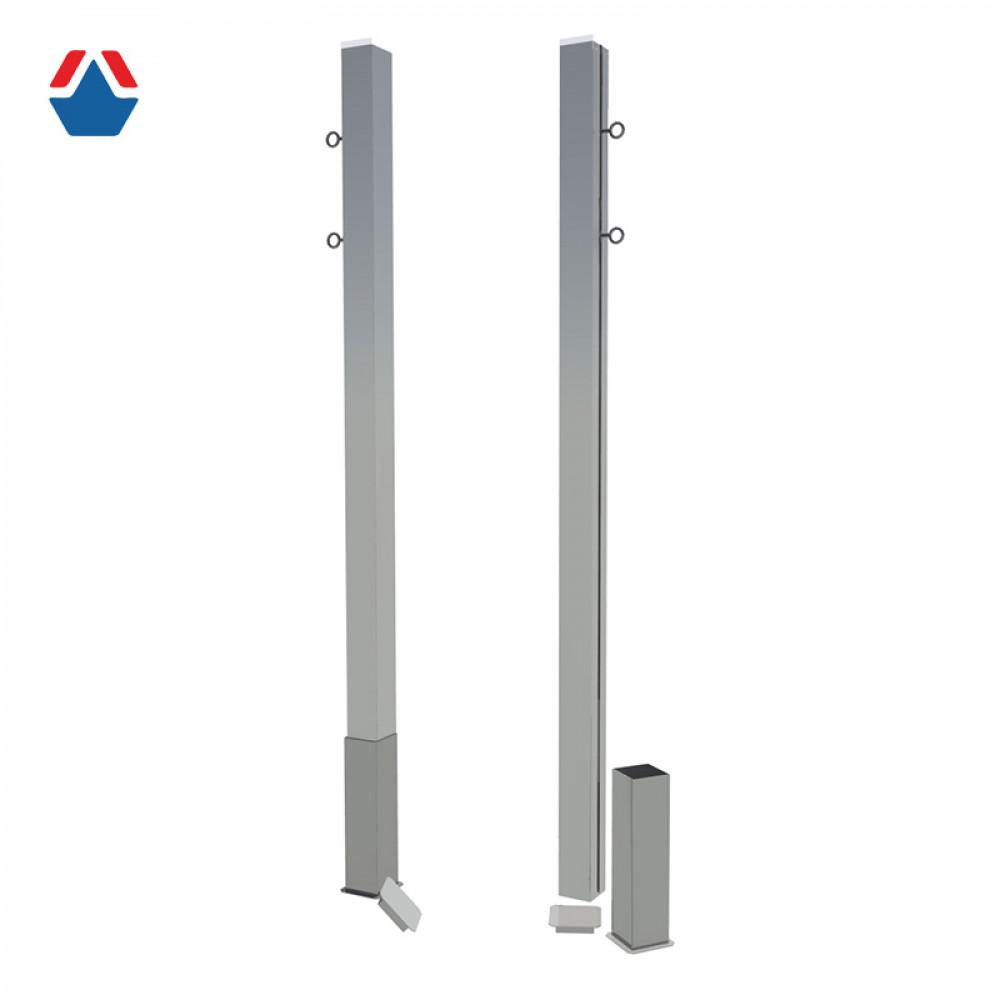 Бадминтонные стойки стационарные алюминиевые, профиль 80х80 мм