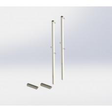 Стойки для бадминтона бетонируемые (со стаканами)
