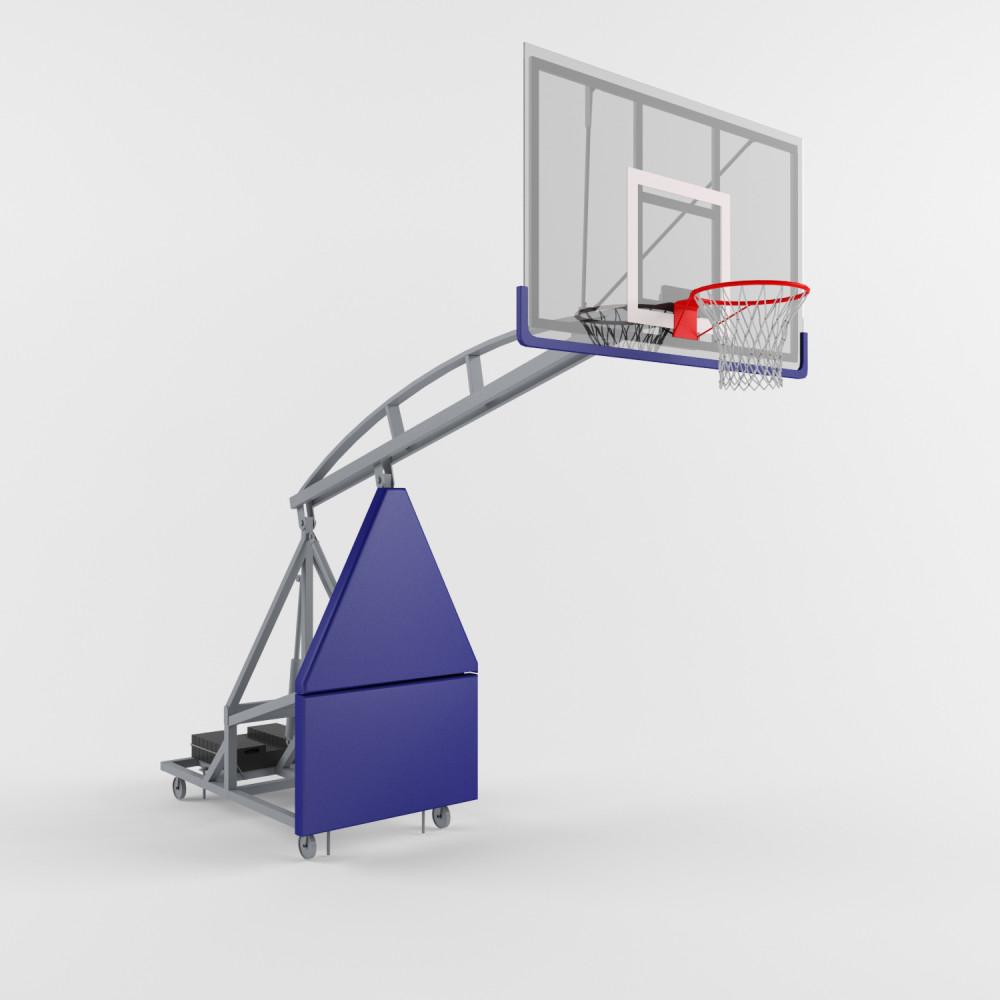 Стойка баскетбольная мобильная складная вылет 2300