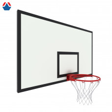 Щит баскетбольный игровой 1800х1050 без рамы ФАНЕРА 18мм цвет разметки ЧЕРНЫЙ