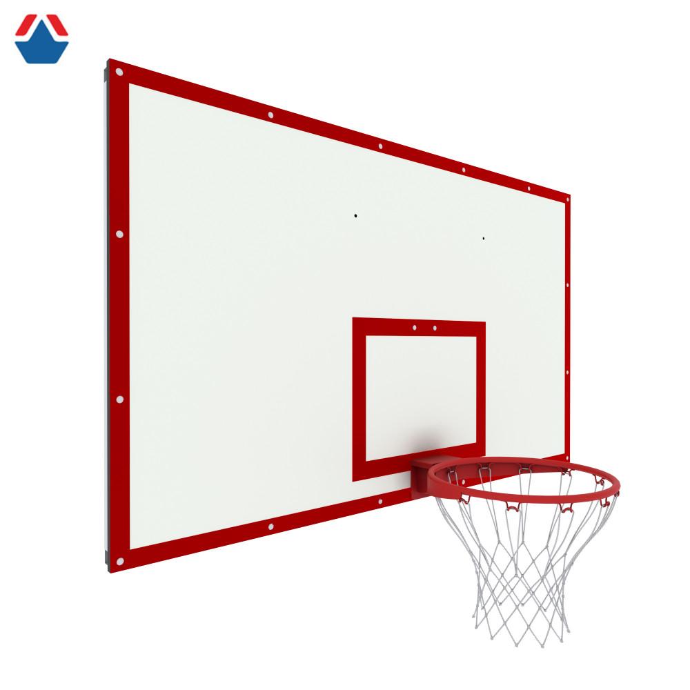 Щит баскетбольный игровой 1800х1050 на раме ФАНЕРА цвет разметки КРАСНЫЙ