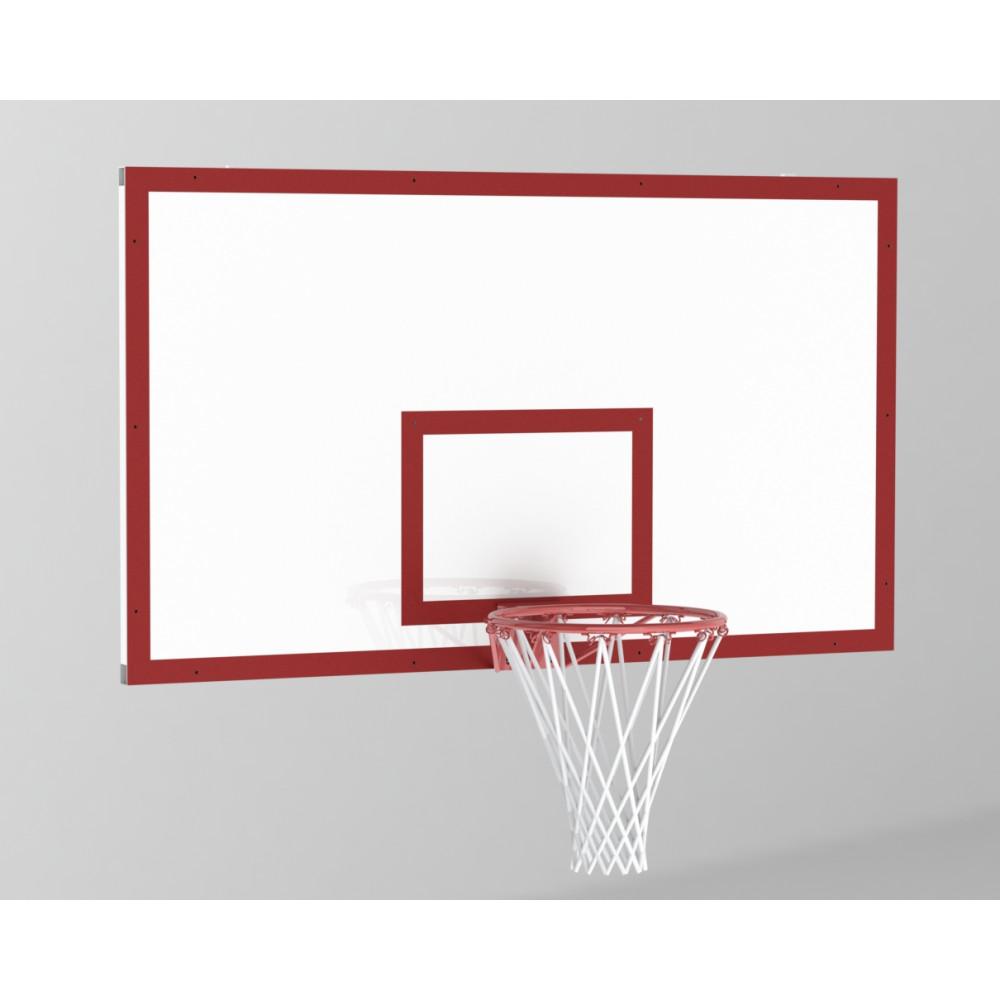 Щит баскетбольный игровой 1800х1050 без рамы ФАНЕРА 18мм цвет разметки Красный