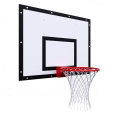 Щит баскетбольный тренировочный 1200х900 на раме ФАНЕРА цвет разметки ЧЕРНЫЙ