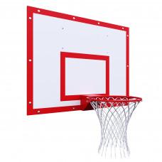 Щит баскетбольный тренировочный 1200х900 на раме ФАНЕРА цвет разметки КРАСНЫЙ