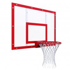 Щит баскетбольный тренировочный 1200х900 на раме ОРГСТЕКЛО цвет разметки КРАСНЫЙ