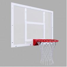 Щит баскетбольный тренировочный 1200х900 на раме ПОЛИКАРБОНАТ цвет разметки БЕЛЫЙ