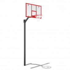 Стойка баскетбольная разборная регулируемая под бетонирование (вынос 1200мм)