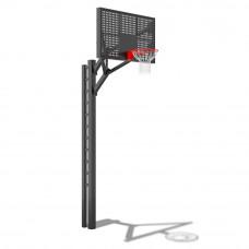 Стойка баскетбольная под бетонирование с металлическим щитом (вынос 1200мм)