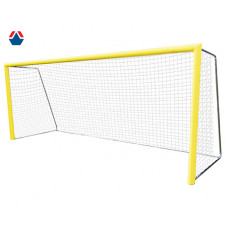 Ворота для пляжного футбола 5,5х2,2х1,5 м, алюминиевый профиль овальный 100х120 мм, свободностоящие
